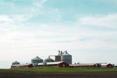 modern lantgård Arkivbild