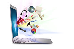Modern laptop. Royalty Free Stock Photography