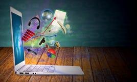Modern laptop Stock Photography