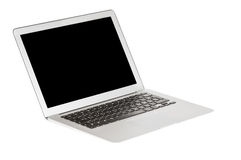 Modern laptop. On white with shadow Royalty Free Stock Images