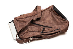 Modern laptop in a bag Stock Photography