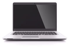 Modern laptop with black screen Royalty Free Stock Photos
