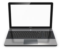 Modern laptop with blank screen Stock Image