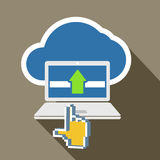 Modern laptop and cloud technology Stock Photography