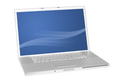 Modern laptop computer Royalty Free Stock Photos