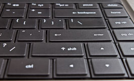 Modern laptop computer keyboard Stock Images