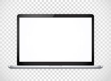 Modern laptop computer vector mockup Stock Photography