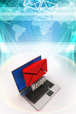 Modern Laptop and envelope Royalty Free Stock Images