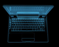 Modern laptop isolated on black Stock Photos