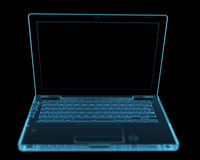 Modern laptop isolated on black Royalty Free Stock Image