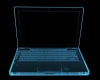 Modern laptop isolated on black Royalty Free Stock Image