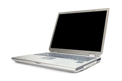 Modern laptop isolated with clipping path Stock Photo