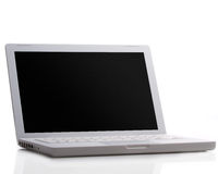 Modern laptop isolated on white Royalty Free Stock Photo