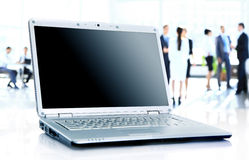 Modern laptop isolated Stock Images