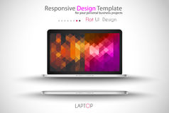Modern Laptop Mockup Royalty Free Stock Photo