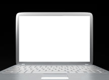 Modern laptop PC. Isolated on black background Royalty Free Stock Images