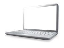 Modern laptop PC isolated Stock Image