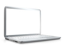 Modern laptop PC isolated. On white background Stock Images