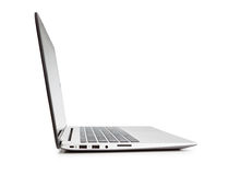 Modern laptop side view. Stock Photography