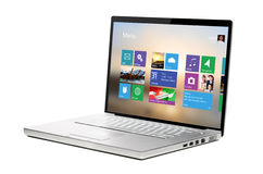 Modern laptop with ui Royalty Free Stock Photo