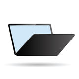 Modern laptop on white background Stock Photography