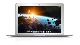 Modern laptop on white background Stock Photo
