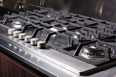Modern large gas stove Stock Images
