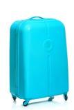 The modern large suitcase on white background Royalty Free Stock Photo