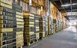 Modern large warehouse Royalty Free Stock Photos
