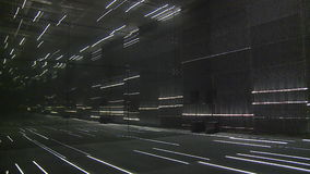 Modern laser lights room in exhibition pavilion. timelapse. Video stock footage