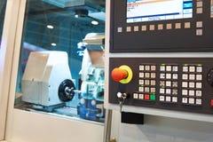 Modern lathe with CNC Stock Photo