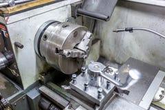 Modern lathe spindle stock image