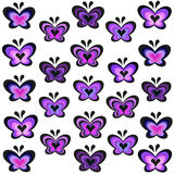 Modern lavender butterflies vector Royalty Free Stock Photo