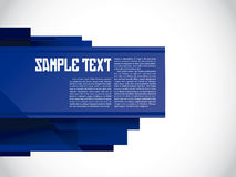 Modern layout blue Royalty Free Stock Photography