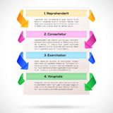 Modern Layout. Infographic, presentation template Royalty Free Stock Image