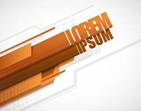 Modern layout orange Stock Photography