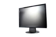 Modern lcd monitor isolated Royalty Free Stock Photos