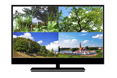 Modern LCD TV Royalty Free Stock Photography