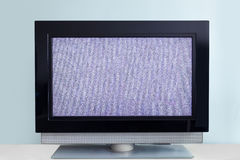 Modern LCD TV with signal noise Royalty Free Stock Image