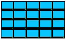 Modern LCD TVs Stock Image