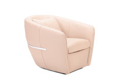 Modern leather armchair. Isolated on white background Stock Image
