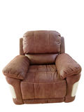 Modern leather armchair Royalty Free Stock Photos