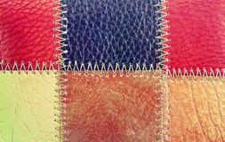 Modern leather. Background, pattern.Leather colors close up Royalty Free Stock Photo