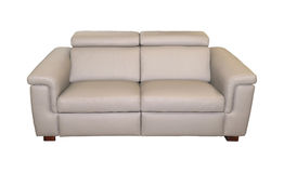 Modern leather couch Stock Photography