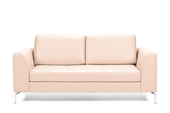 Modern leather sofa royalty free stock photos