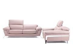 Modern leather sofa Stock Photos