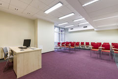 Modern lecture room Royalty Free Stock Photo