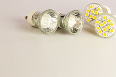 Modern LED bulbs Stock Image