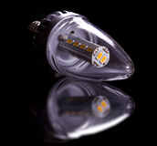 Modern LED candle bulb Royalty Free Stock Photography