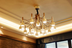 Modern home led chandelier lighting Royalty Free Stock Photos